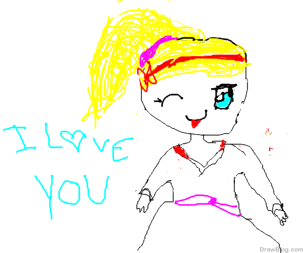 رسم فتاة