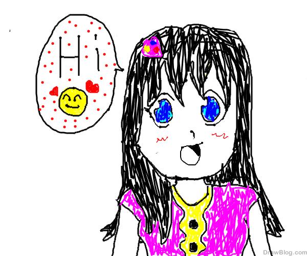 رسم بنت جميلة