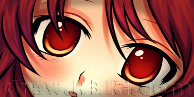 تعلم الرسم - تعلم رسم عيون الانمي