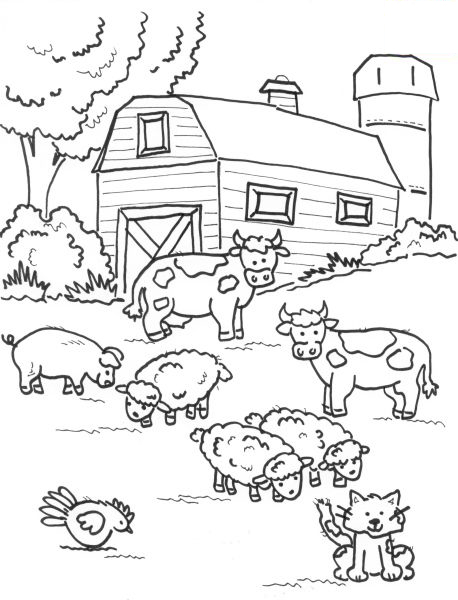 comic barnyard animals coloring pages - photo#20