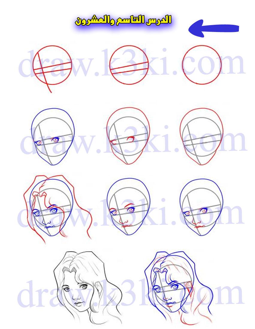 تعلم رسم الوجه تعلم الرسم