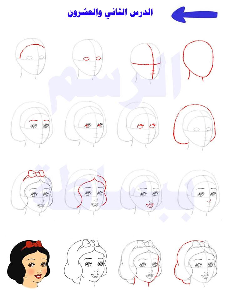 تعلم رسم سنوايت تعلم الرسم