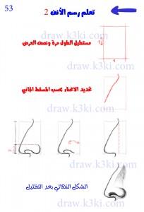 تعلم رسم الأنف
