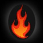 كيفية رسم النار