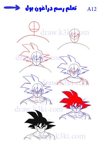 تعلم الرسم - تعلم رسم دراغون بول