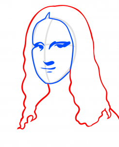 رسم الموناليزا خطوه بخطوه