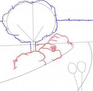 تعلم رسم حديقة