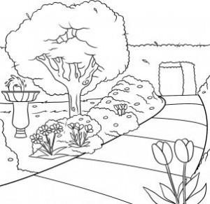 كيفية رسم حديقة