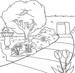 تعلم رسم حديقة تعليم الرسم للاطفال ببساطة
