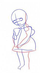 كيفية رسم دمية