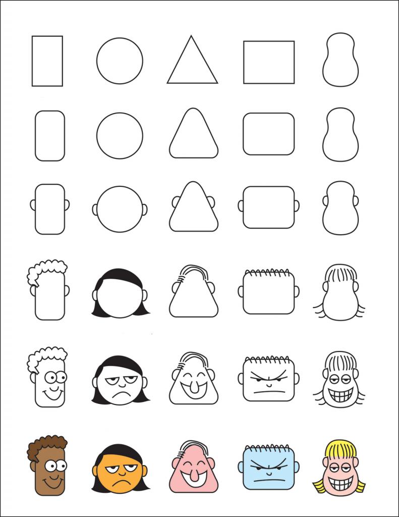 تعلم رسم وجوه مضحكة