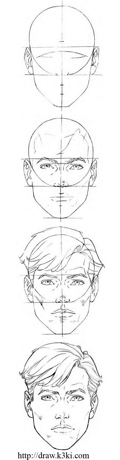 تعلم رسم وجه خطوة بخطوة