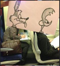 صور مضحكة في الطائرة