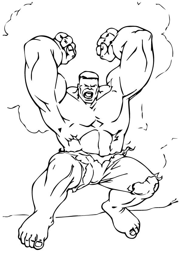 تلوين هالك وهو يهاجم تعلم الرسم