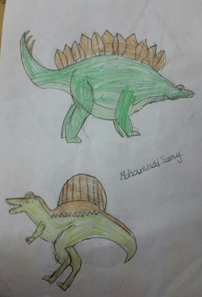 رسمة الديناصور من صديق الموقع محمد سامي