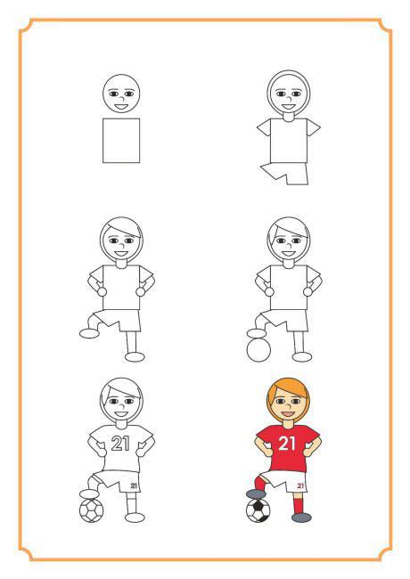 تعلم رسم مجموعة من الرياضيين تعليم الرسم تعلم الرسم ببساطة