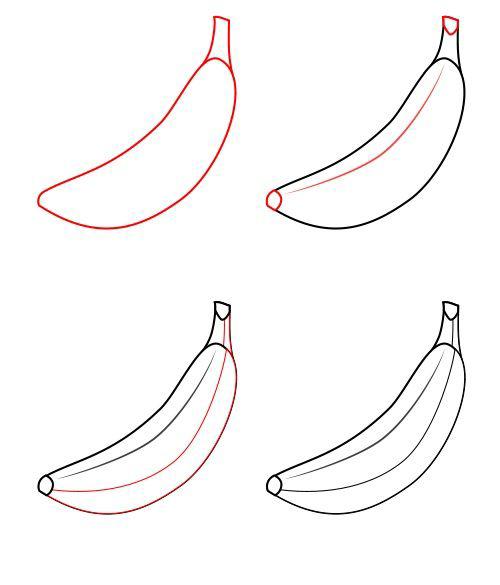 تعلم رسم موزة