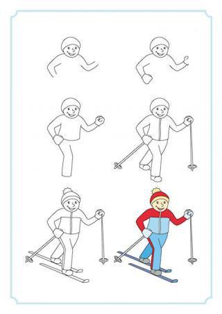 تعليم رسم متزلج