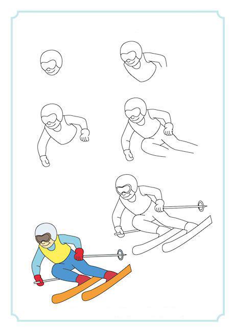 كيف ارسم متزلج