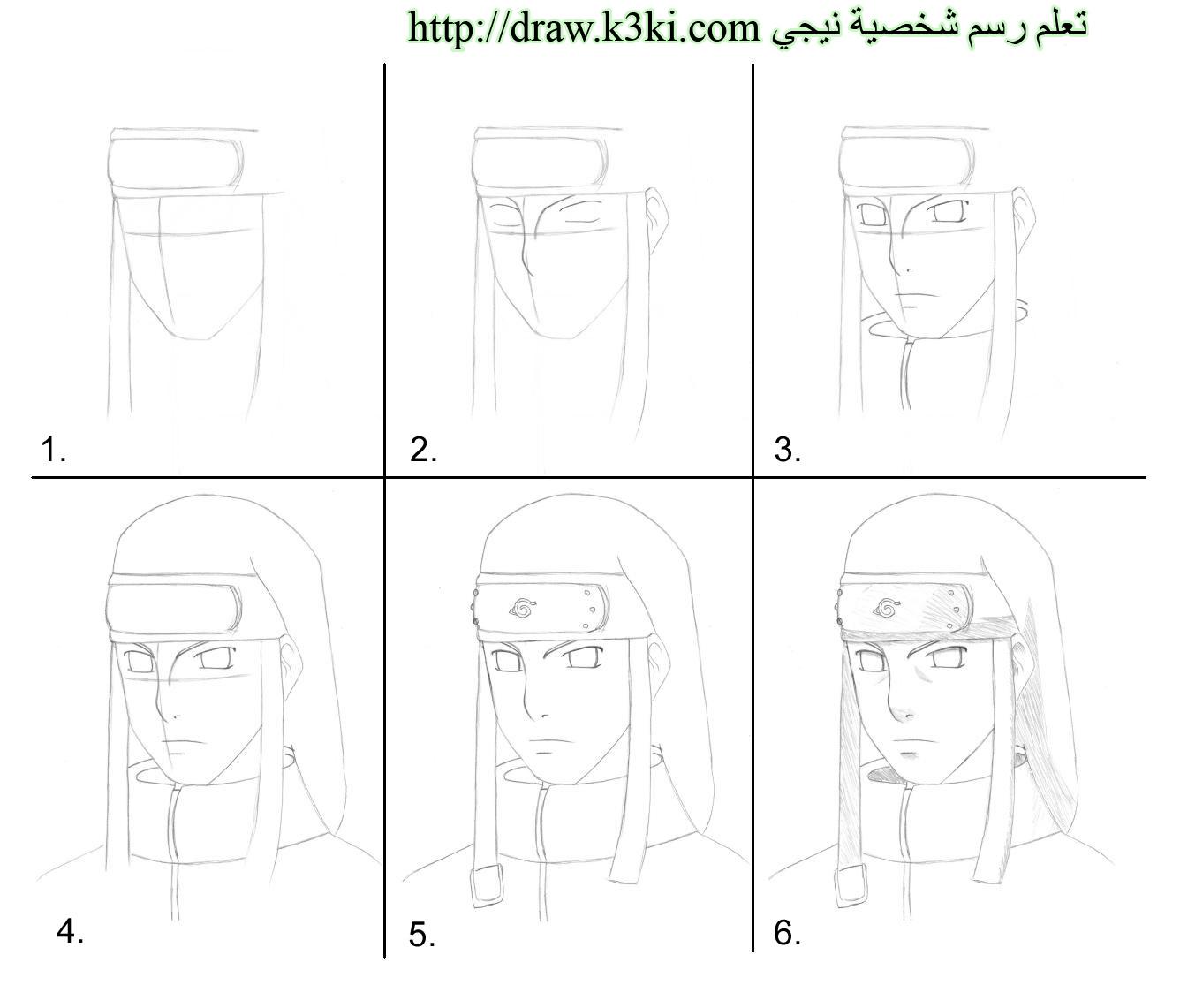 تعلم رسم 6 شخصيات انمي خطوة بخطوة تعليم الرسم تعلم الرسم