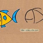 تعليم رسم سمكة من كلمة FISH