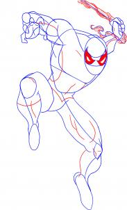 تعلم رسم الرجل العنكبوت