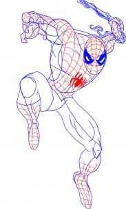 كيفية رسم الرجل العنكبوت