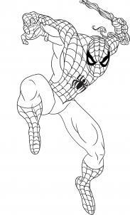 رسم الرجل العنكبوت spider man