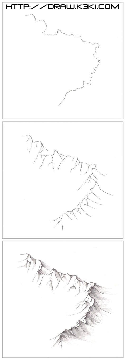 تعلم رسم الجبال