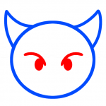 تعلم رسم الوجه الشرير 2