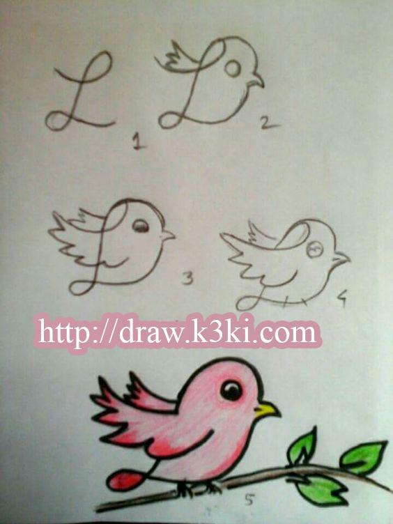 تعليم الأطفال الصغار كيفية رسم عصفور