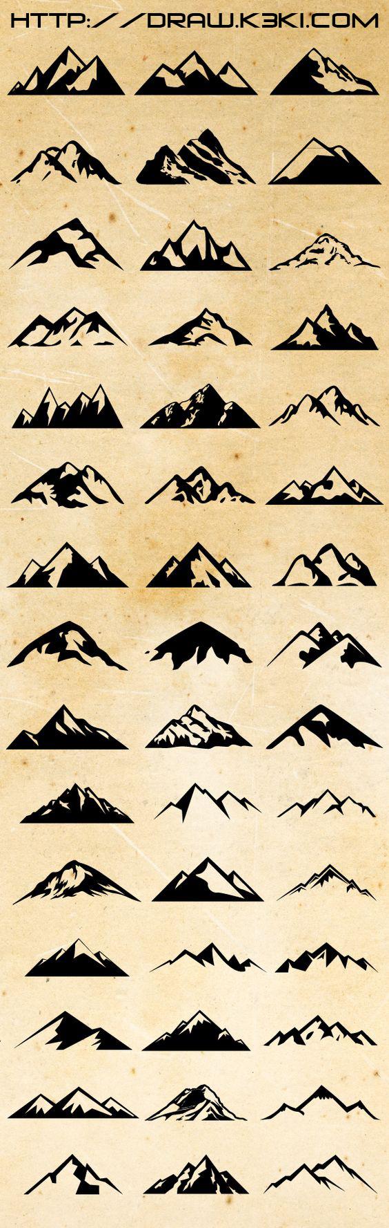كيفية رسم الجبال