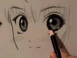 رسم عين المانغا