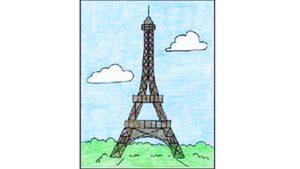 تعلم رسم برج إيفل بالفيديو تعلم الرسم