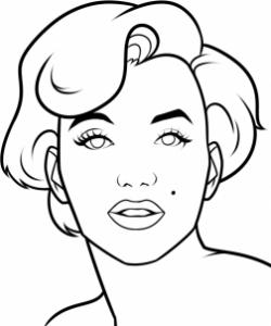 تعلم رسم وجه امرأة جميلة