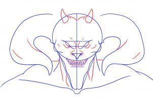 رسم شيطان