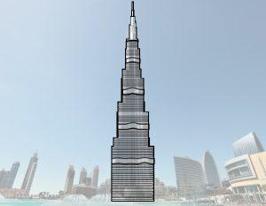 تعلم رسم برج خليفة