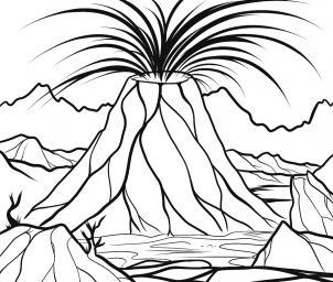 كيفية رسم بركان