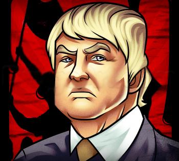 رسم دونالد ترامب