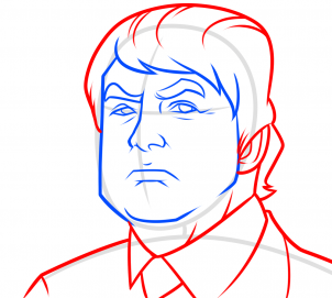 خطوات رسم رئيس امريكا