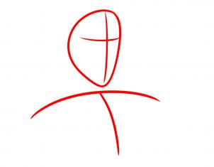 رسم شخصية طرزان