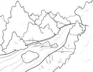 رسم النهر