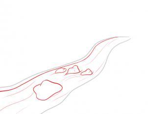 رسم مجرى النهر