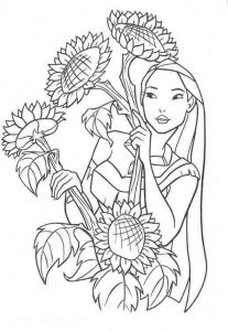 تلوين صورة فتاة خلف الأزهار