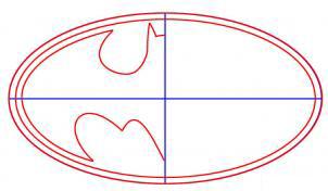 كيف ارسم شعار باتمان