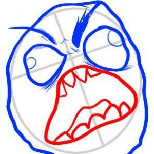 تعلم رسم الوجه-وجه الغضب الساخر