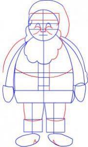 تعلم رسم بابا نويل