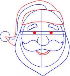 تعلم رسم وجه بابا نويل
