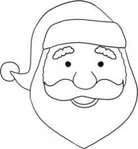 رسم وجه بابا نويل