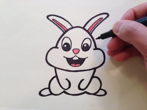الرسم للاطفال كيفية رسم أرنب خطوة بخطوة بسهولة تامة تعلم الرسم